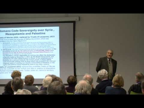 'Evaluating the Legal Case for Israel's Presence in the West Bank' with Dr Gerald M Adler