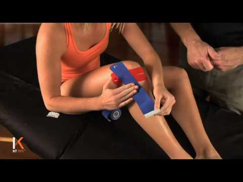 how to put sports tape on your knee