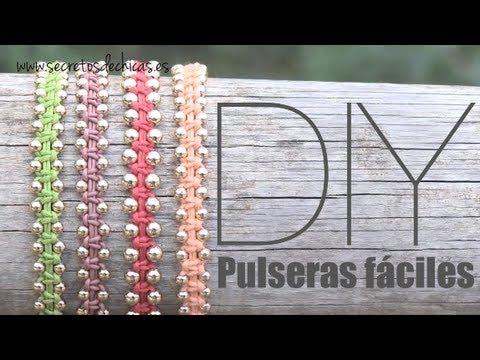 DIY: Pulseras con nudos planos y bolas