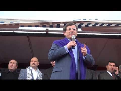 Dış İşleri Bakanı Ahmet Davutoğlu'nun Siverek Mitingi