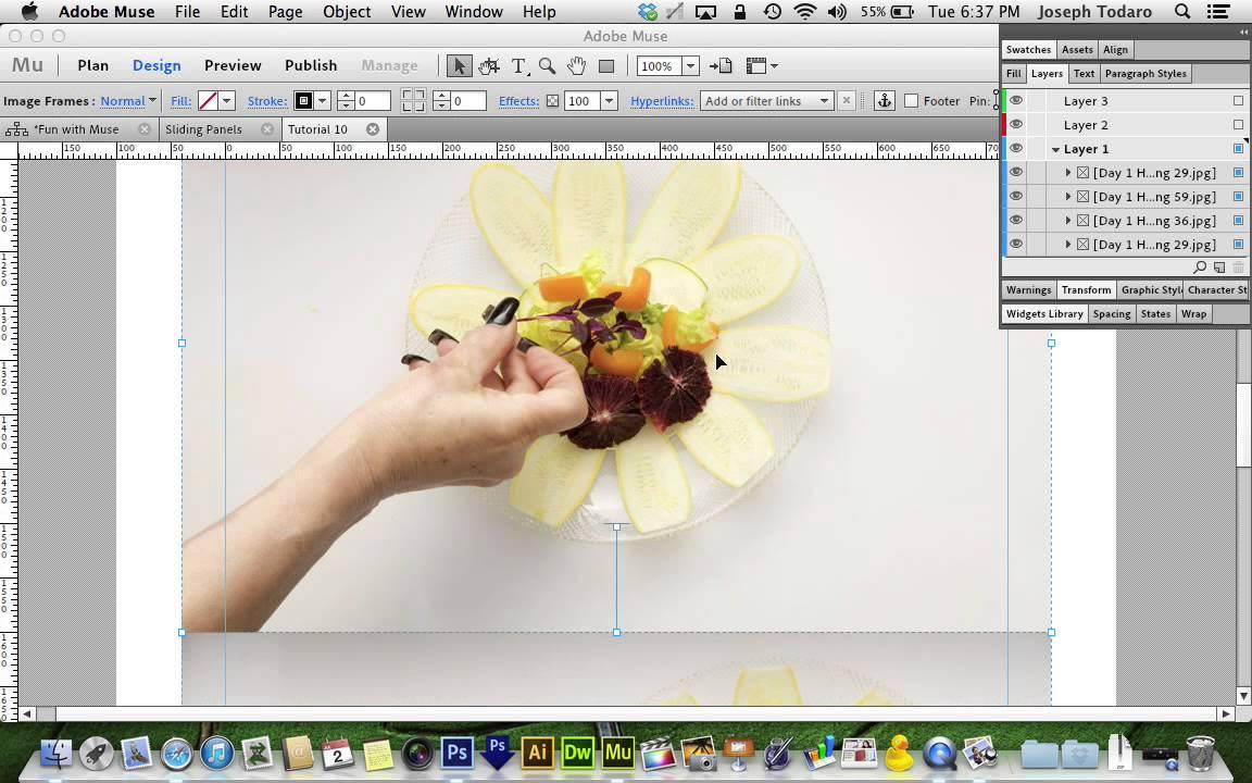 Adobe Muse CC Parallax Tutorial | Sliding Panels - YouTube