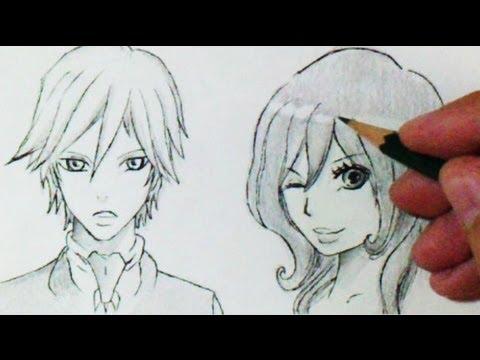 Comment dessiner des cheveux manga 3 diff rents mod les tutoriel youtube - Mangas dessin ...