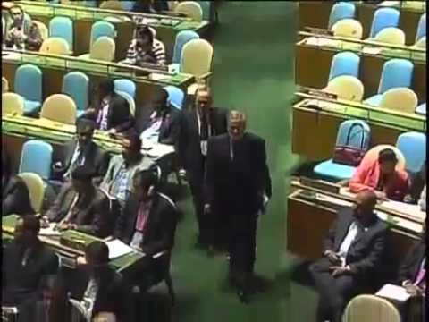 IR Iranian President Dr Mahmoud Ahmadinejad addresses UN 23 September 2010
