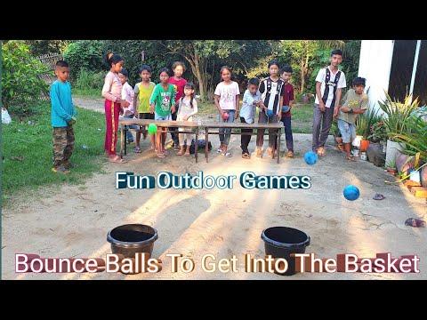 Bounce Balls To Get Into The Basket | Fun Outdoor Games | Fun Team Building Games
