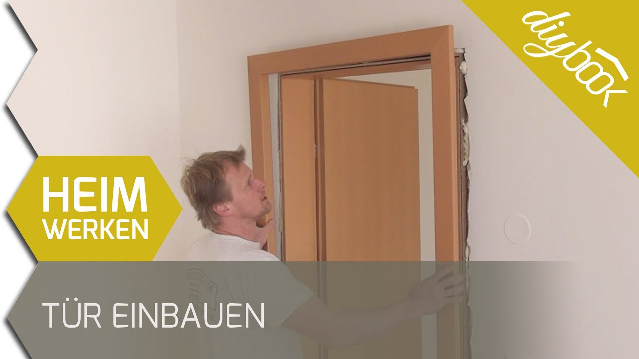 t r einbauen holzzarge einbauen youtube. Black Bedroom Furniture Sets. Home Design Ideas