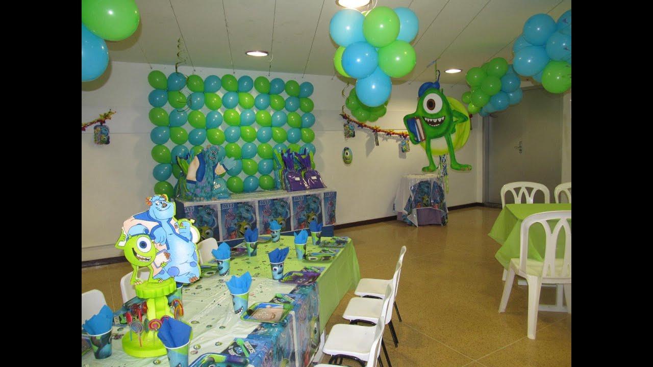 Decoracion fiesta tematica infantil monster university - Decoracion fiesta infantil ...