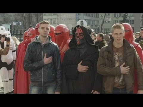 Ukraine election: Darth Vader tries to run for president