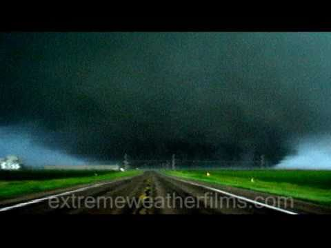 "Huge Monster Tornado - -  "" It's Tearing This Building Apart """