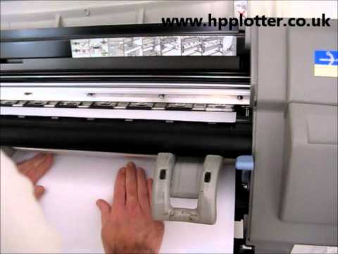Designjet 5000/5500 Series - Load paper/media sheet on your printer
