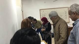 عمرو عبد الجليل يدلي بصوته في الاستفتاء