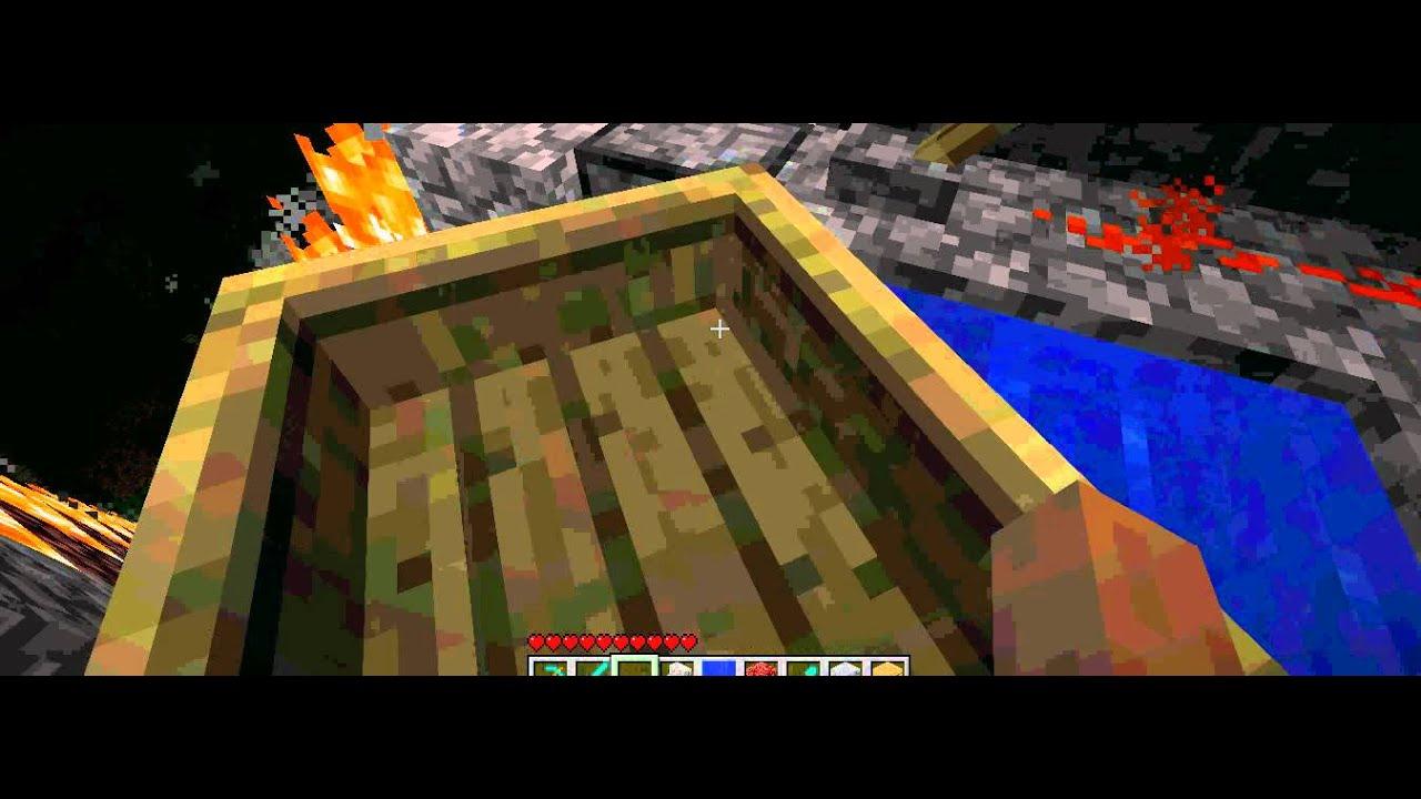 Tuto comment faire un toboggan avec les bateau dans minecraft - Comment faire un chalet dans minecraft ...