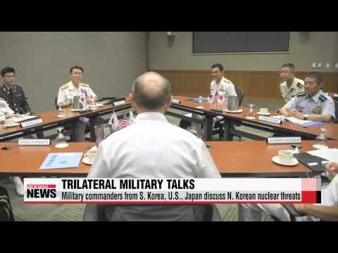 Top military commanders from S. Korea, U.S., Japan discuss North Korean nuclear threats