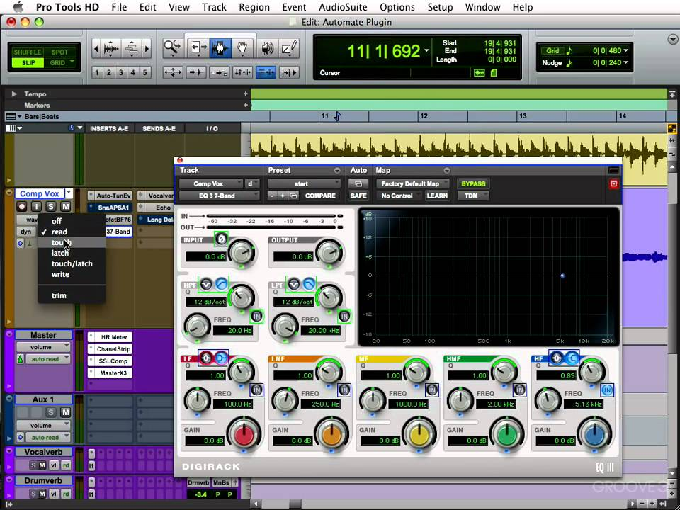 Pro Tools Plugin Automation
