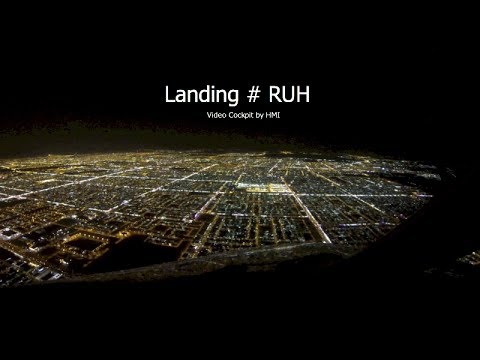 Landing at Riyadh (RUH) Saudi Arabia - RWY15L (Cockpit View)