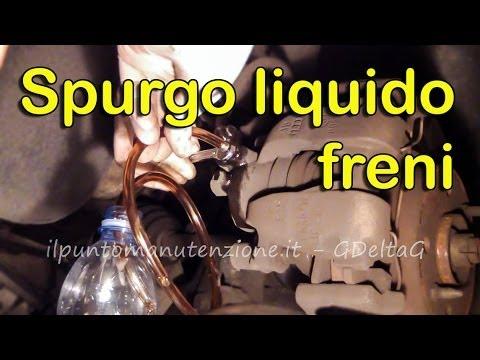 Cambio e spurgo liquido freni auto