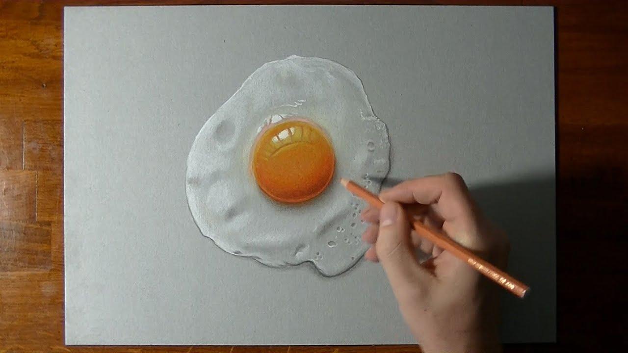 Comment dessiner un oeuf sur le plat ?