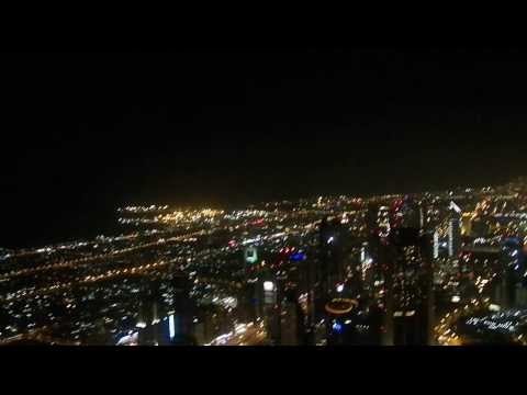 HD Riding Up the World's Fastest Elevator to Top of Burj Khalifa 124 Floors Above Dubai UAE