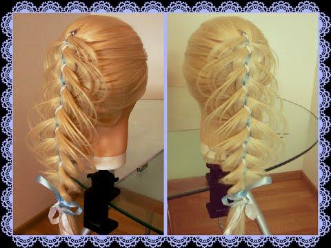 Ажурное плетение кос видео