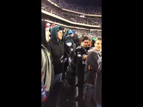 FIGHT: Saints fan gets spit at by Eagles fan after game-win