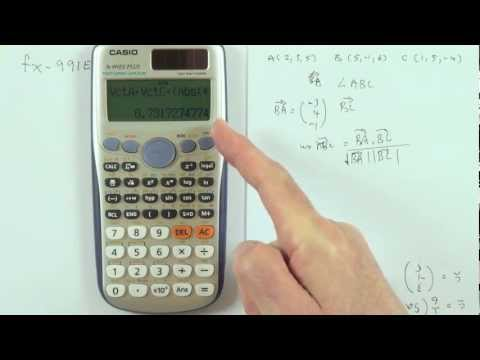Vector calculations on the Casio fx991es plus calculator