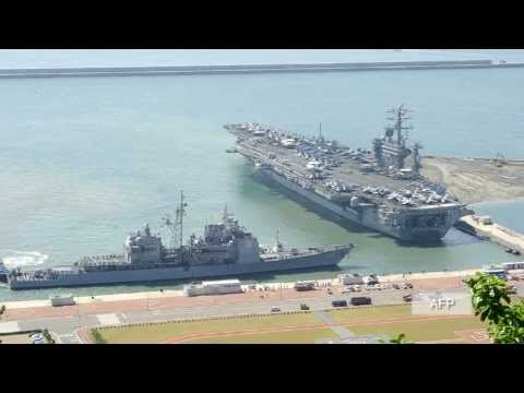 US aircraft carrier Nimitz rerouted for possible role in Syria attack