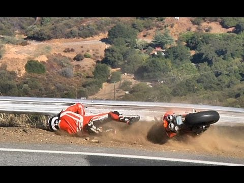 Heavily Modified Ducati Crash