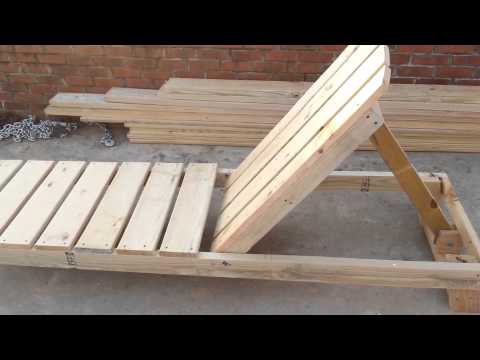 How to build a chaise lounge pool chair part 1 youtube for Build a chaise lounge