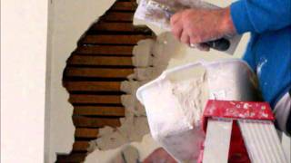 Plastering Wall Repairs Lath & Plaster Large Hole Part 1
