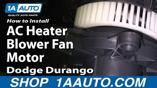 How To Install Replace AC Heater Blower Fan Motor Dodge