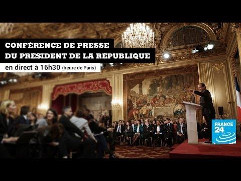 En direct : Conférence de presse du Président de la République François Hollande