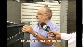 Asfalto cede novamente na Rua Cabo Vede, no Bairro Cruzeiro