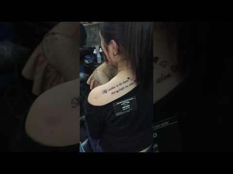 Hình Xăm Chữ Ngang Vai Tại Đỗ Nhân Tattoo Địa Chỉ Xăm Hình Uy Tín