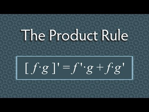 Product Rule for Derivatives  (Calculus)
