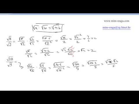 Racionalizacija nazivnika vj.br.4  Zbirka riješenih zadataka matematika za osmi razred