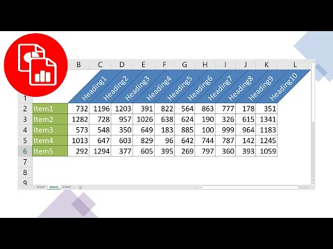 Create angled or slanted text and borders youtube for Table th vertical text
