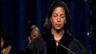 Ambassador Susan Rice at 2010 Commencement 2/3