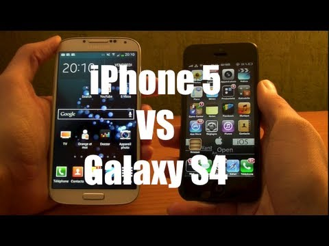 iPhone 5 VS Galaxy S4 2013 - Comparatif Franais (Design, Logiciel, Camera,...)