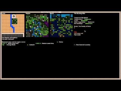 Dwarf Fortress Tutorial -  Ep. 002 -  World Creation and Journey Preparation