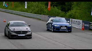1200 HP Mercedes-AMG CLS63 vs 750 HP Audi RS6. DragTimes info video - Драгтаймс инфо видео.