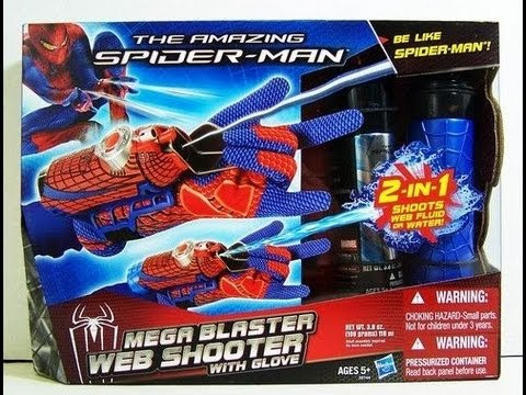The Amazing Spider-man Movie Rapid Fire & Mega Blaster Web Shooter with Glove Role Play Toy Review