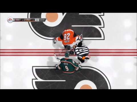 NHL 14 - Minnesota Wild vs. Philadelphia Flyers Gameplay [HD]