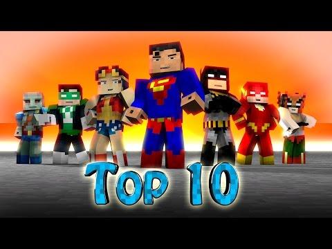 Minecraft TOP 10 | Modded Top 10 SuperHeroes - Marvel & DC! (Hulk, Spiderman, Thor, X-Men)