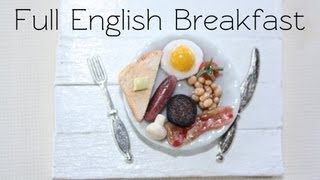 Full English Breakfast Clay Food Tutorial