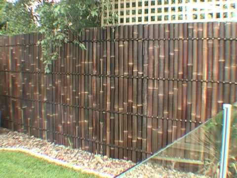 diy bamboo panel fence installation guide youtube ForCheap Fence Screening