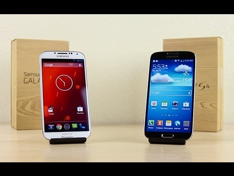 Google Play Edition Galaxy S4 vs. Samsung Galaxy S4 Speed Test, In this video, I do a speed comparison test between the Google Play Edition of the Samsung Galaxy S4 and Samsung's TouchWiz version of the Galaxy S4. I wante...