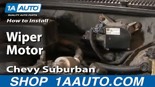 How To Install Replace Wiper Motor Chevy GMC Pickup Truck