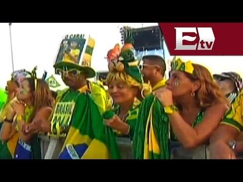 La playa de Copacabana vibra con el duelo entre Brasil vs México/ Viva Brasil
