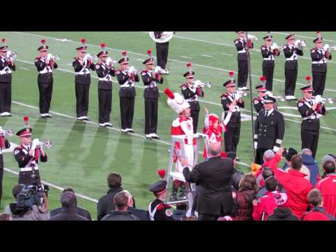 Ohio State Marching Band Pregame 10 26 2013 with Ramp and Script Ohio i Dotter Zacke Naughton