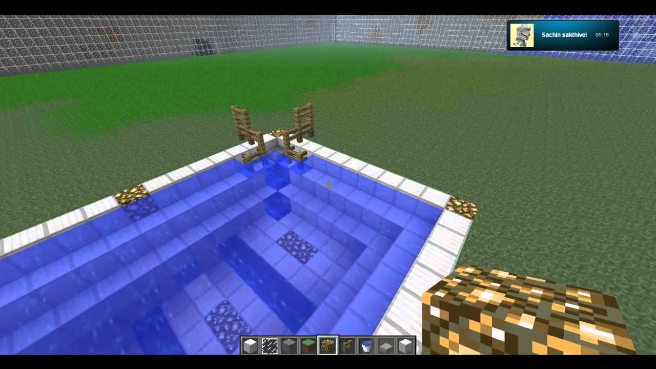 Minecraft How To Giant Pool Youtube