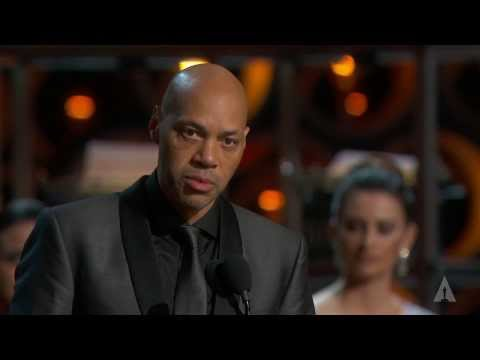 "John Ridley winning Best Adapted Screenplay for ""12 Years a Slave"""